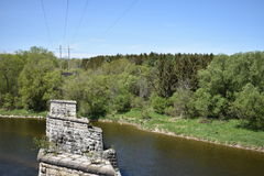 Grand River Paris Ontario royalty free stock photography