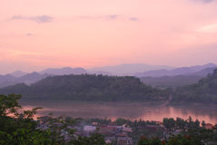 River view at Luang Prabang (Laos) Stock Images