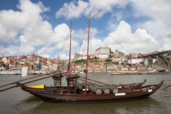 River View of the Old City of Porto in Portugal Stock Image