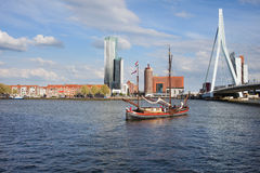 River View of Rotterdam in the Netherlands Stock Image