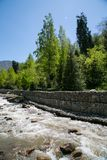 River view. At summer near Almaty, Kazakhstan Stock Images