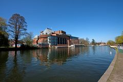 River view to the RSC Theatre Stratford Upon Avon Royalty Free Stock Images