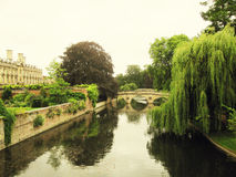 River view of the University of Cambridge Royalty Free Stock Images