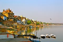 River View of Varanasi royalty free stock photo