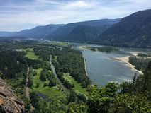 Only a river in between. Viewpoint overlooking river Stock Images