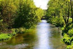 River Vilnele in Vilnius old town centre Royalty Free Stock Photos