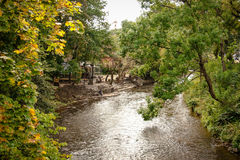 River in Vilnius. The Republic of Uzupis Royalty Free Stock Images