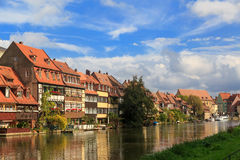River and vintage houses in Bamberg Royalty Free Stock Images
