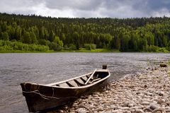 The river Vishera in the Ural mountains Stock Photography