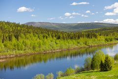 River Vishera. Ural mountains Royalty Free Stock Photography