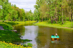 River Vitba in park of culture and rest named after Frunze, Vitebsk, Belarus Royalty Free Stock Images