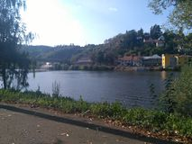 River. The river Vltava in Davle in Czech Republic Royalty Free Stock Images