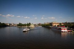 River Vltava in Prague Royalty Free Stock Images