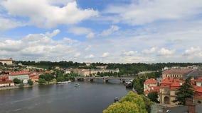 River Vltava in Prague. Stock Images