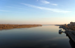 River Volga in Astrakhan Royalty Free Stock Images