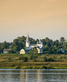On the river Volga. The church is on the banks of the river Volga royalty free stock photos