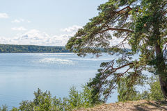 River Volga in the hot summer from the high bank Royalty Free Stock Images