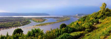 River Volga in Russia, Samarskya Luka Royalty Free Stock Photography