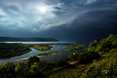 River Volga, Samara. River Volga in a Samara city, Russia. Top view Stock Photography