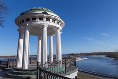 River Volga in Yaroslavl. Embankment of the river Volga in Yaroslavl royalty free stock photo