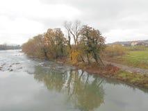 River Vrbas, Banja Luka. Republika Srpska, Bosnia and Herzegovina Royalty Free Stock Photo