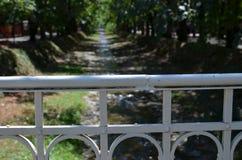 River in Vrnjacka Banja. Serbia, in summertime royalty free stock photo