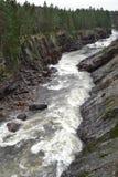 River Vuoksa in Imatra, Finland Stock Image