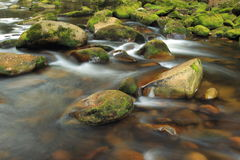 River Vydra in Bohemian Forest Royalty Free Stock Photo