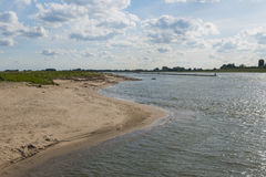 River Waal and Beach Stock Photo