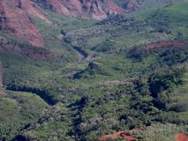 River in Waimea Canyon stock photos