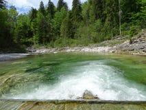 River Walchen near Sylvenstein lake Royalty Free Stock Photo