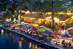 River Walk. SAN ANTONIO, TX - AUG 13: The San Antonio River Walk in San Antonio, Texas on August 13, 2011. The Walk is 5 miles along the San Antonio River. Over