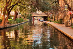 River Walk. The beautiful River Walk in downtown San Antonio , Texas is a popular tourist attraction set along the banks of the San Antonio river with a stock photos