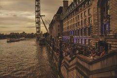 River walk along Thames river Stock Image