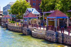 River Walk In Downtown Reno, Nevada Stock Photography
