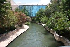 River walk in San Antonio. Beautiful river walk in downtown San Antonio, Texas Stock Photo
