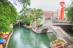 River walk in San Antonio. In the morning royalty free stock photos
