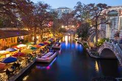 River Walk in San Antonio Texas. On Christmas Stock Image
