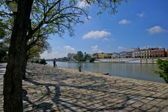 River walk in Seville, Spain Stock Photo