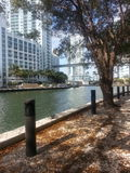 The Miami River walk on a sunny day in March Stock Photography