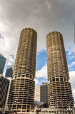 River Walk with urban skyscrapers in Chicago, United States. 2016 royalty free stock photography