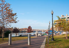 River walk, Washington Harbor, DC Royalty Free Stock Photo