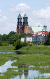 River Warta and Archicathedral Basilica Royalty Free Stock Photo
