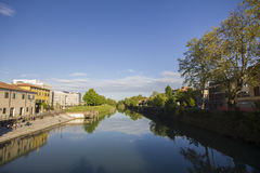 River. Water canal in Padova, Italy Stock Photo