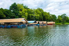 Floating house. Elegant expensive hotels hotel valley poland estate nature house stitched water beautiful luxury charming river outdoor architecture panoramic Royalty Free Stock Photo