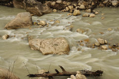 River water flow after raining Royalty Free Stock Photos