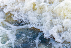 River water foam flow white stream Stock Photos