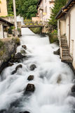 River water milky. The force of nature in one click; the river with the water milky white color Royalty Free Stock Image