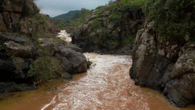 River water passing through mountain. Video of river water passing through mountain stock footage