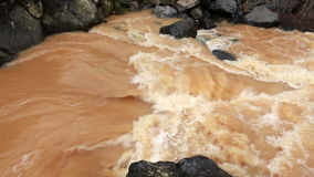 River water passing through mountain. Video of river water passing through mountain stock video footage